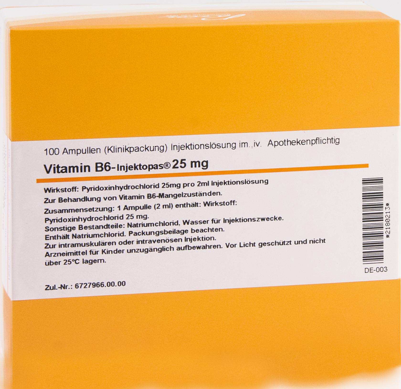 VITAMIN B6-Injektopas 25mg