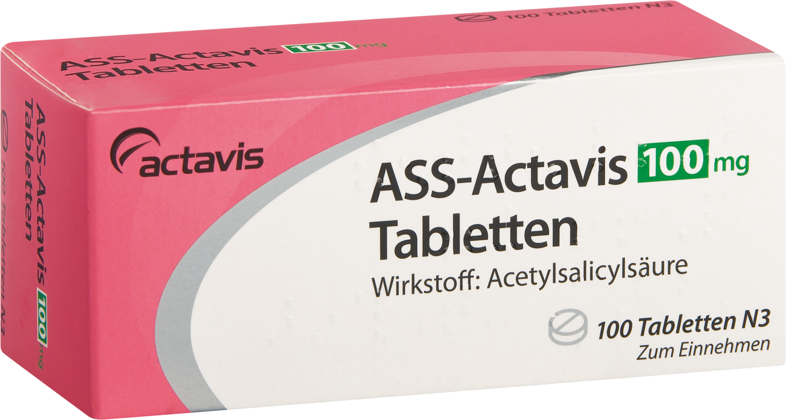 ASS-Actavis 100mg Tabletten