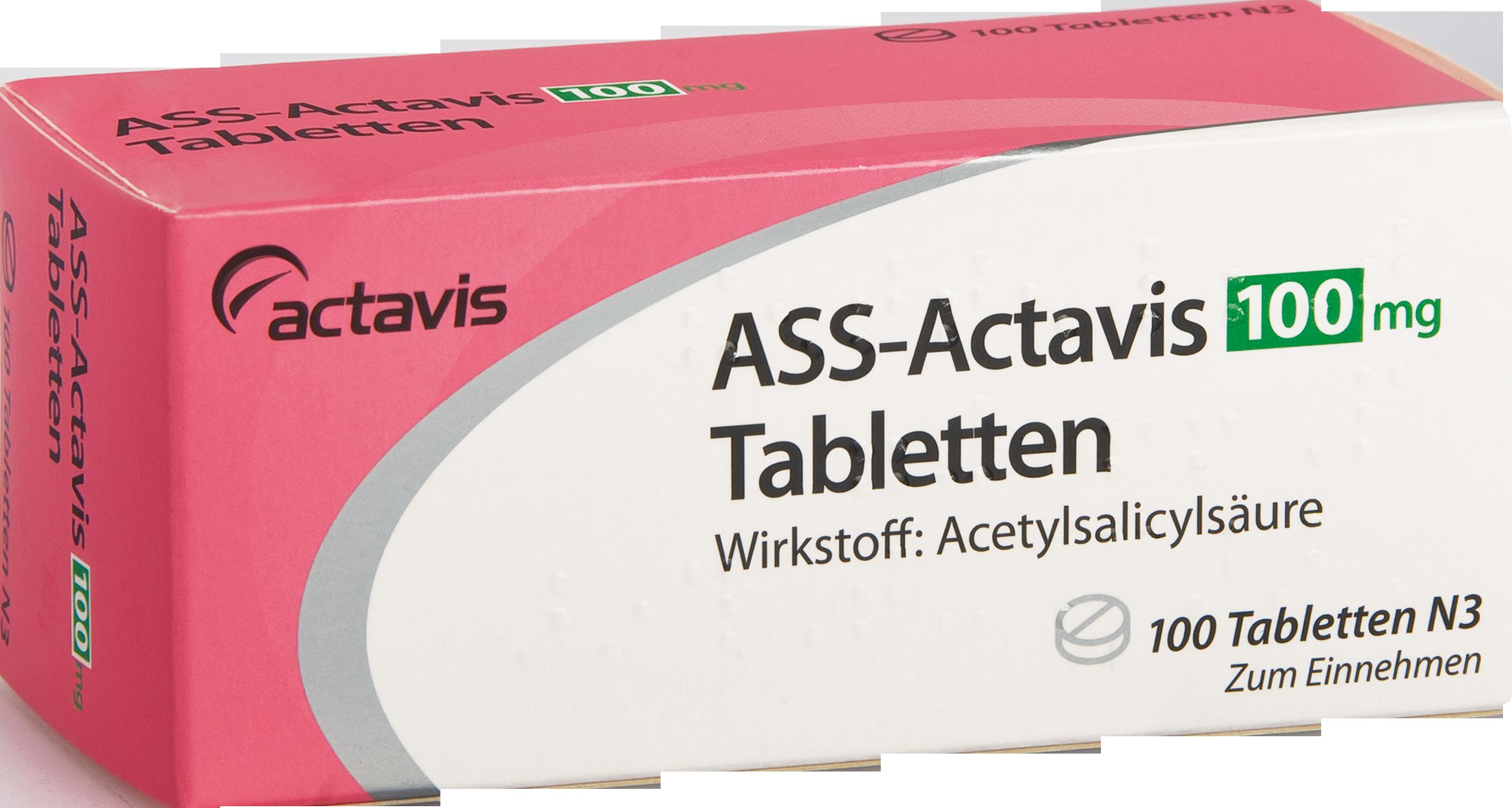ASS-Actavis 100mg Tabletten