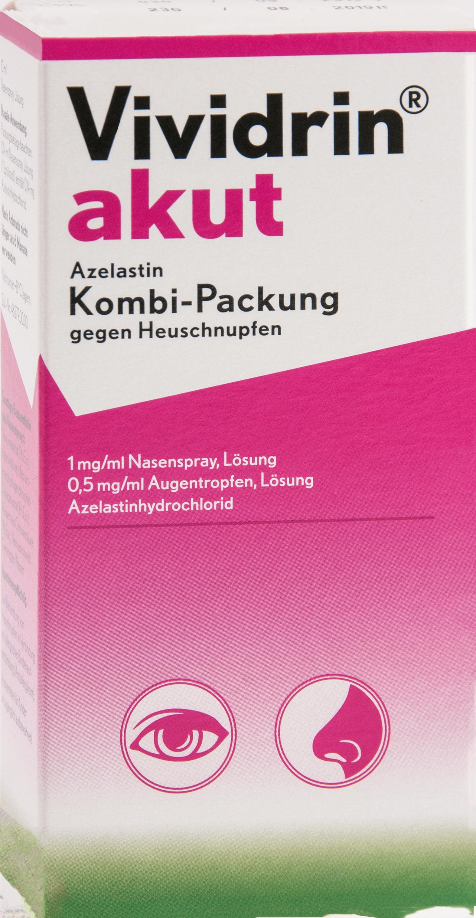 Vividrin akut Azelastin 4mlAT/10mlNaSpr geg.Heusch