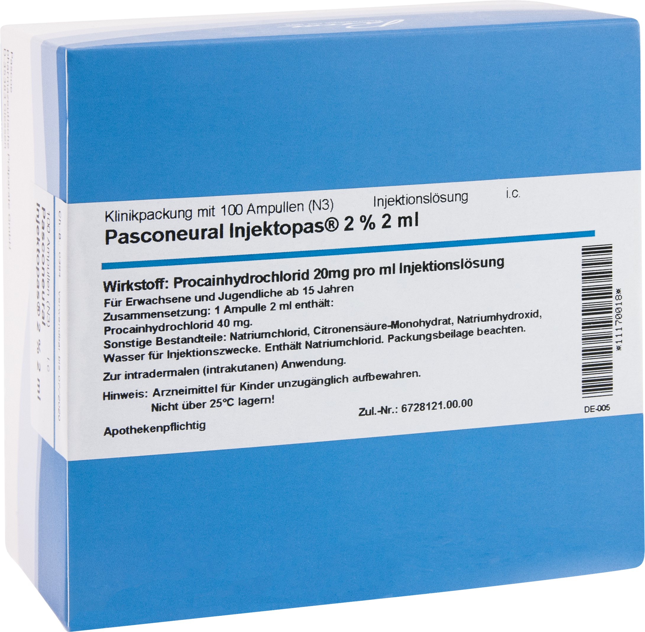 Pasconeural Injektopas 2 % 2 ml