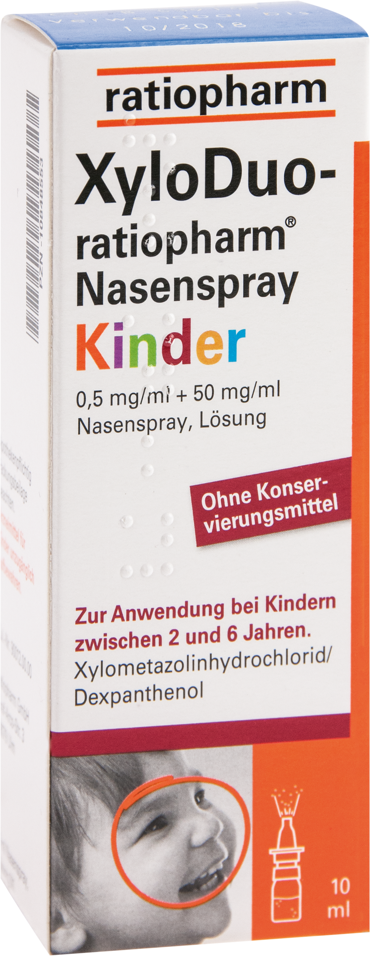 XyloDuo-ratio Nasenspr.Kinder0.5mg/ml+50mg/ml o.K.