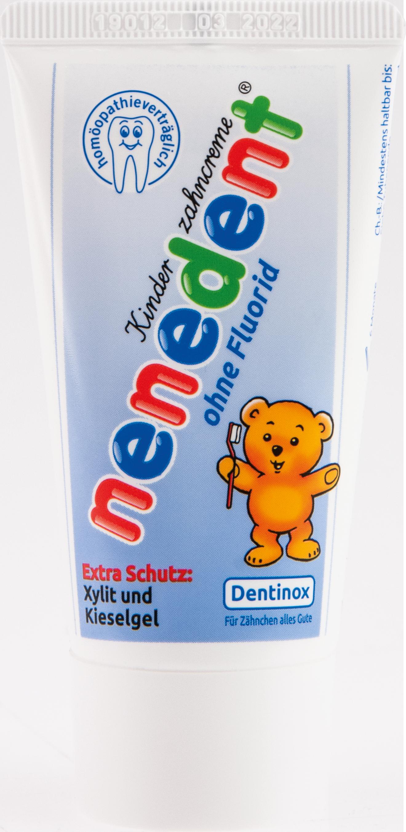 Nenedent Kinderzahncreme ohne Fluorid Standtube