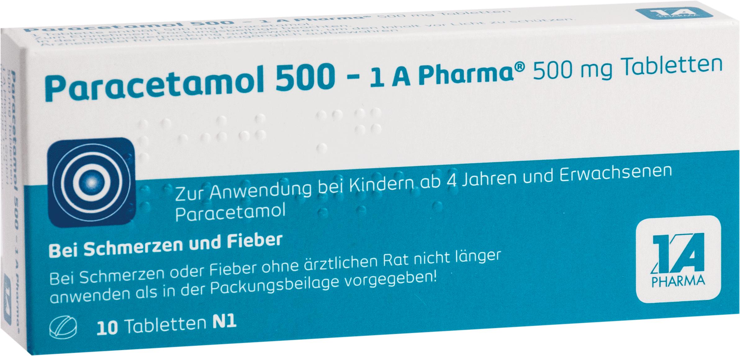 Paracetamol 500 - 1 A Pharma