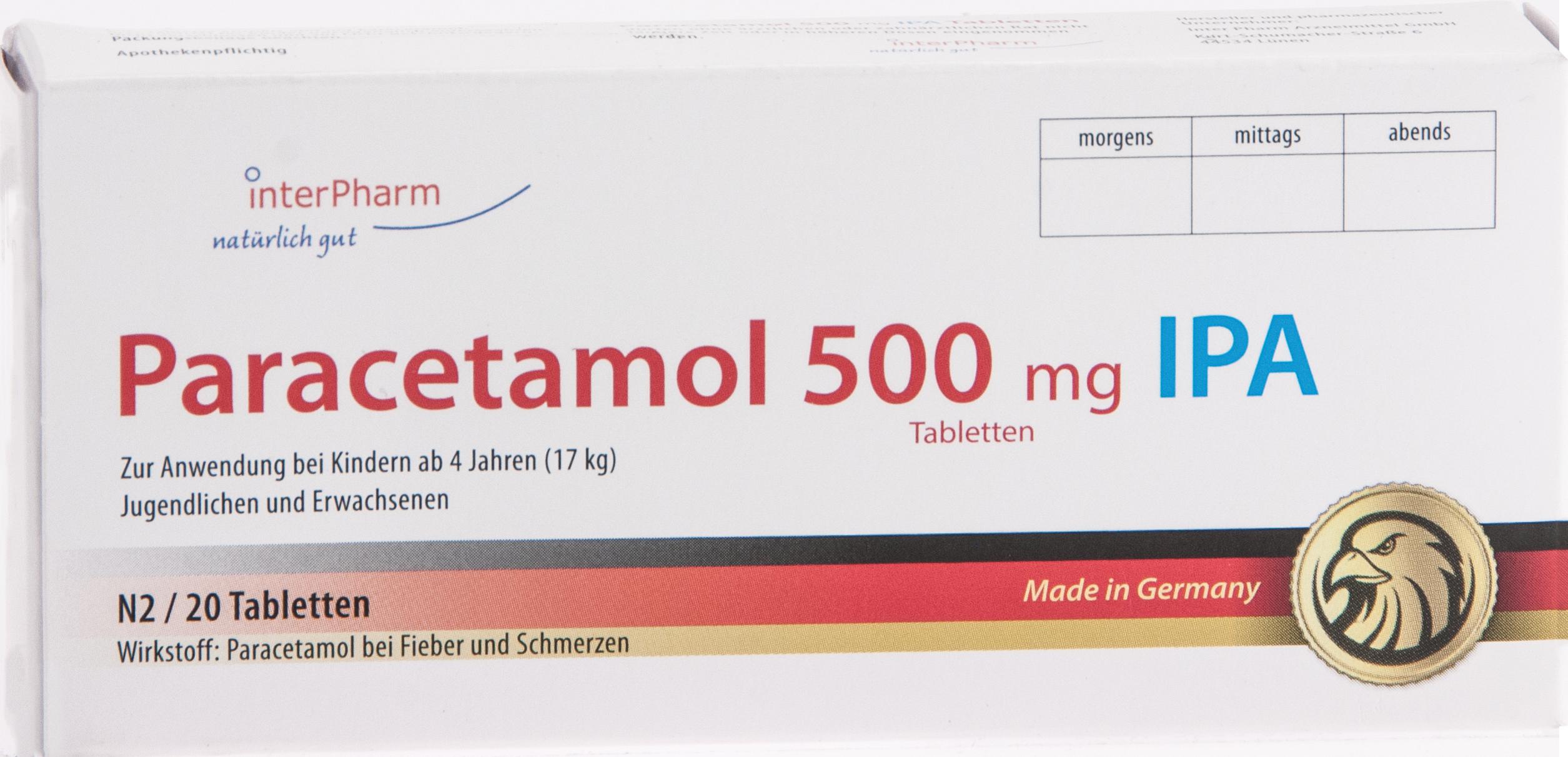 Paracetamol 500mg IPA