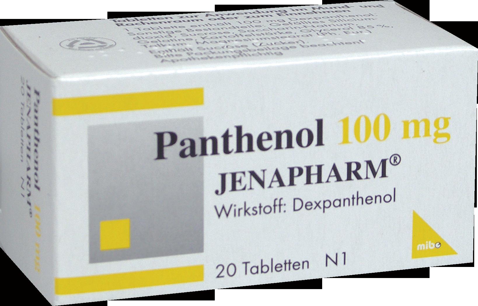 PANTHENOL 100MG Jenapharm