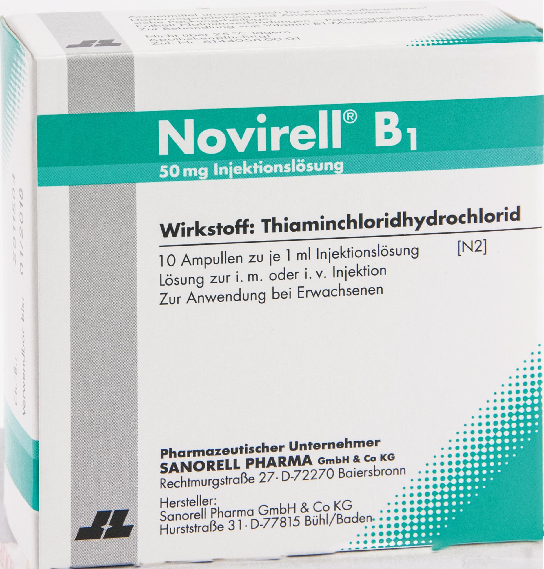 Novirell B1 50mg Injektionslösung