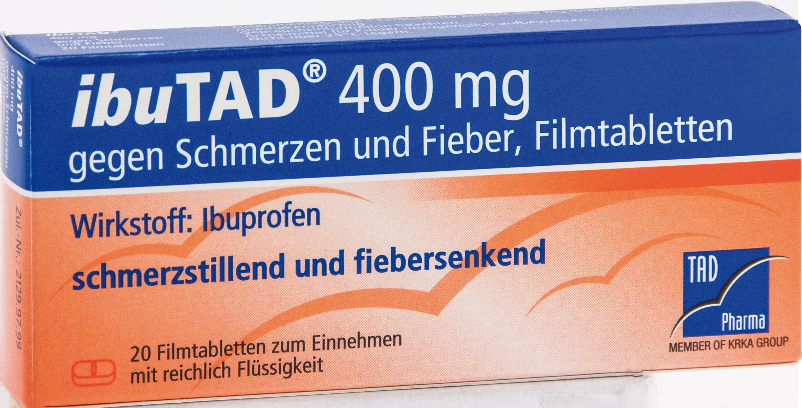 ibuTAD 400mg gegen Schmerzen und Fieber Filmtabl.