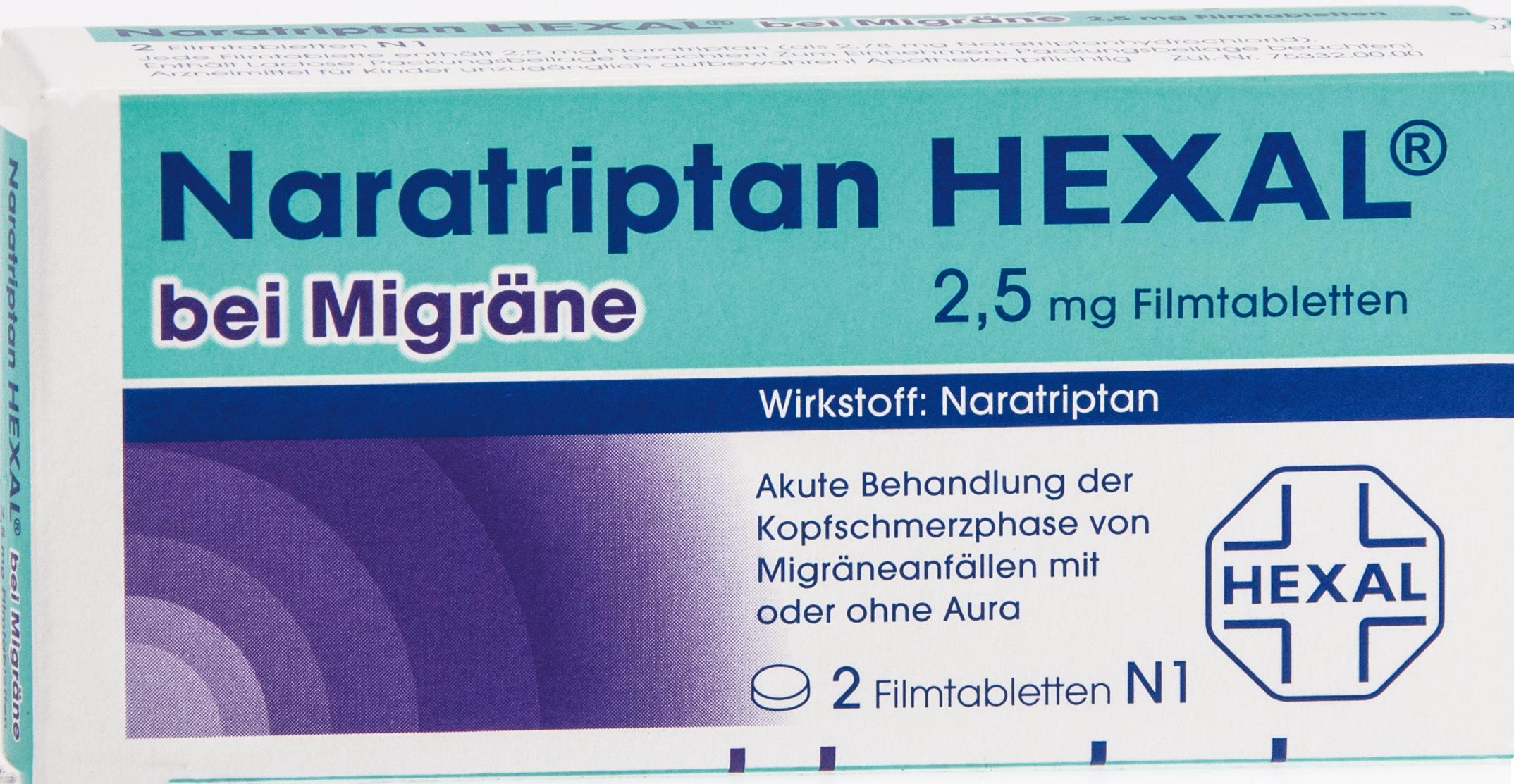 Naratriptan Hexal bei Migräne 2.5mg