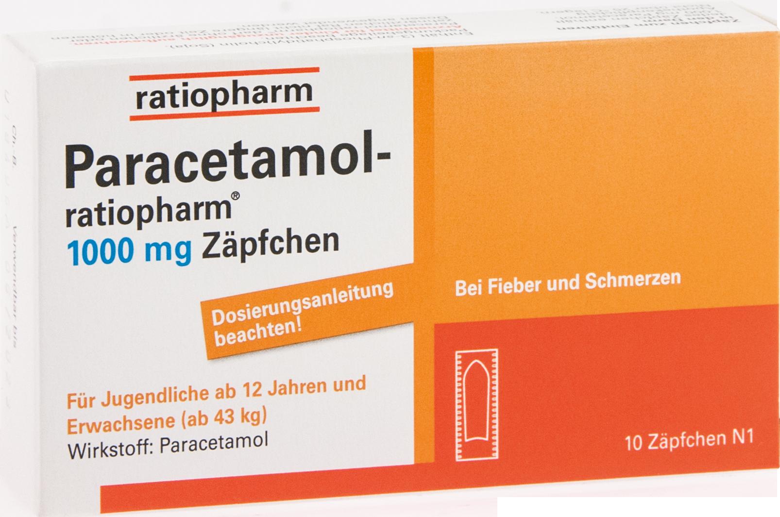Paracetamol-ratiopharm 1000mg Zäpfchen