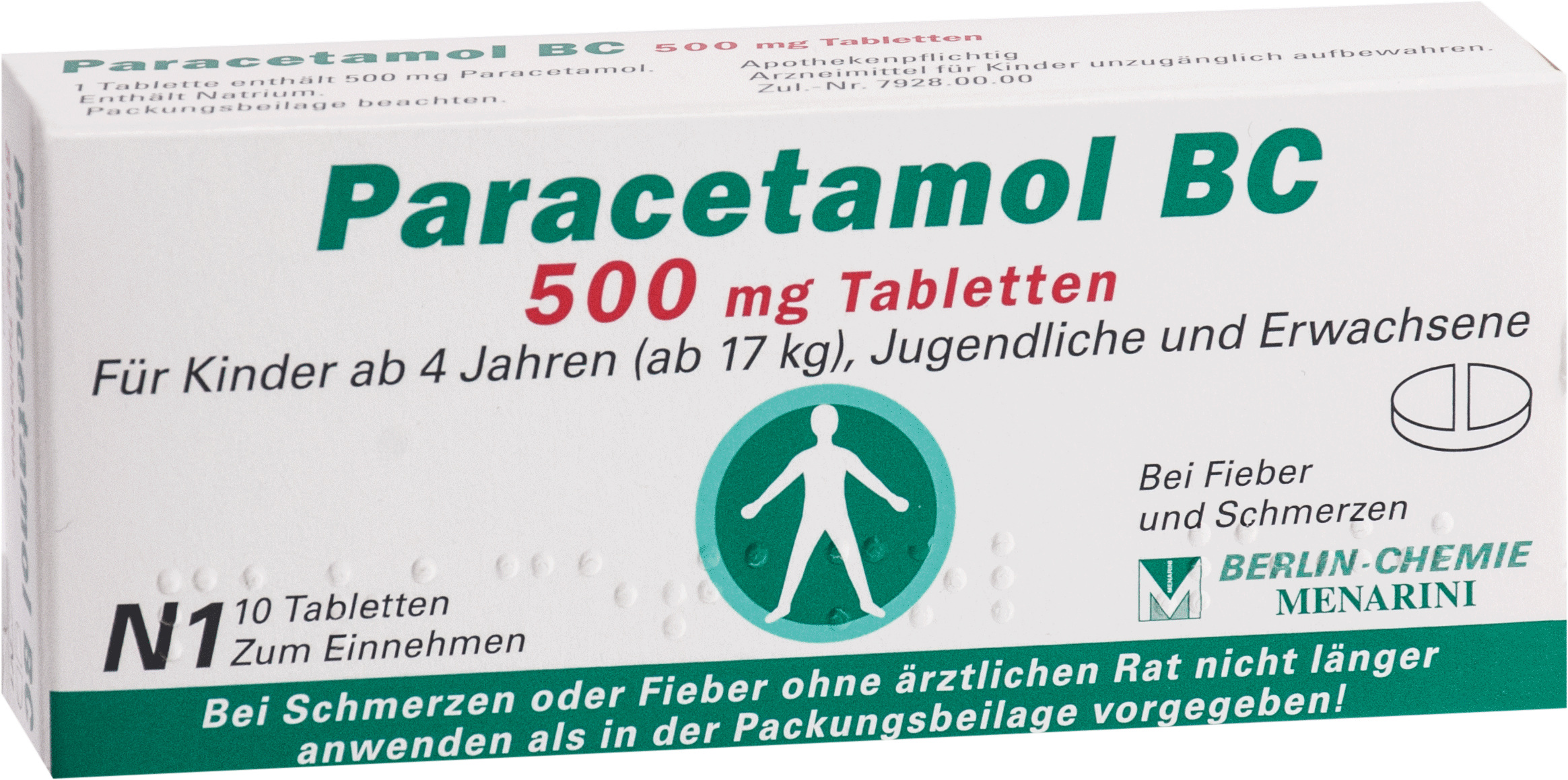 Paracetamol BC 500mg Tabletten