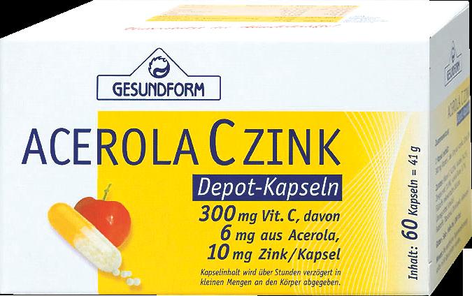 Gesundform C+Zink mit Acerola Depot-Kapseln
