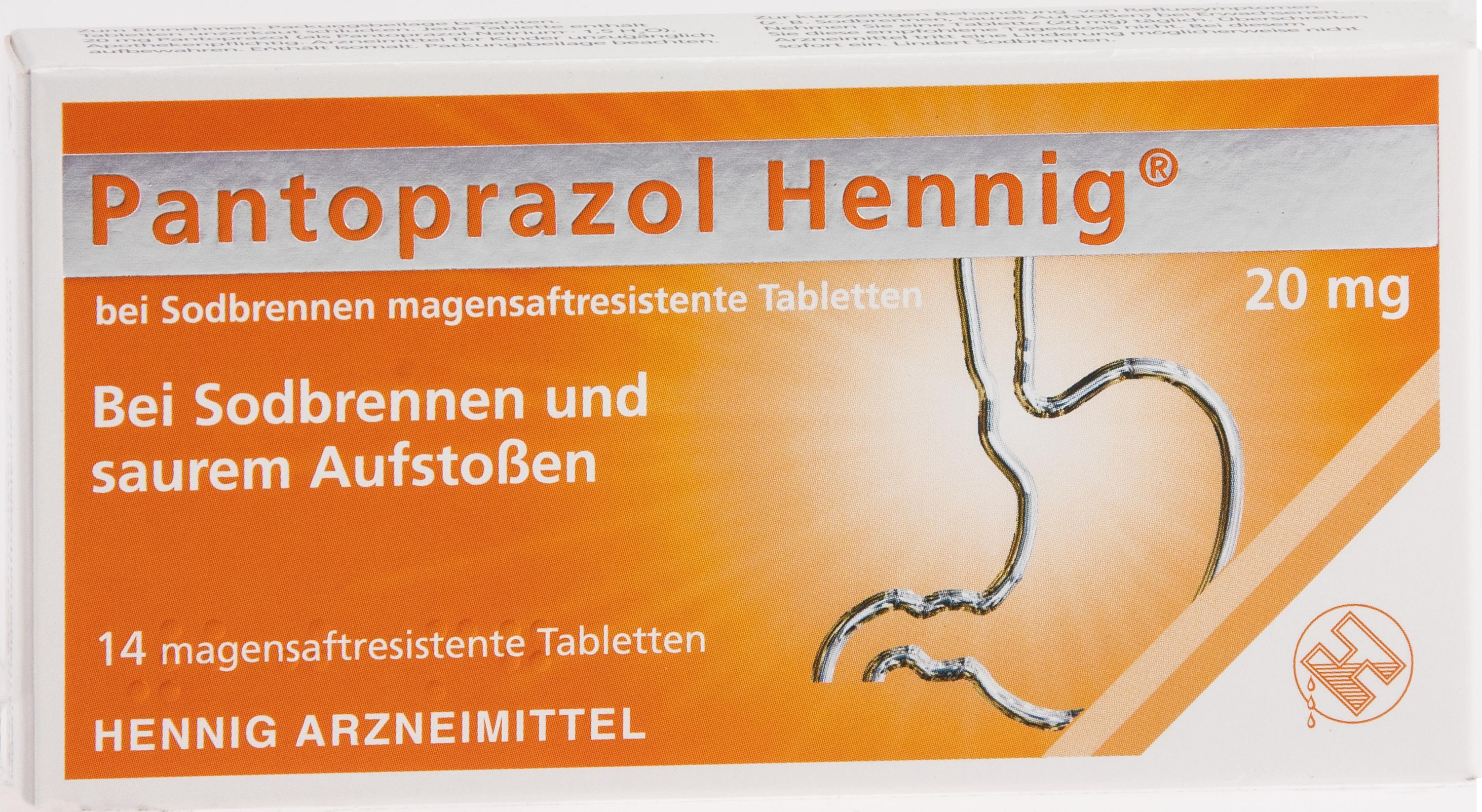 Pantoprazol Hennig b.Sodbrennen 20mg Magen.res.Tab