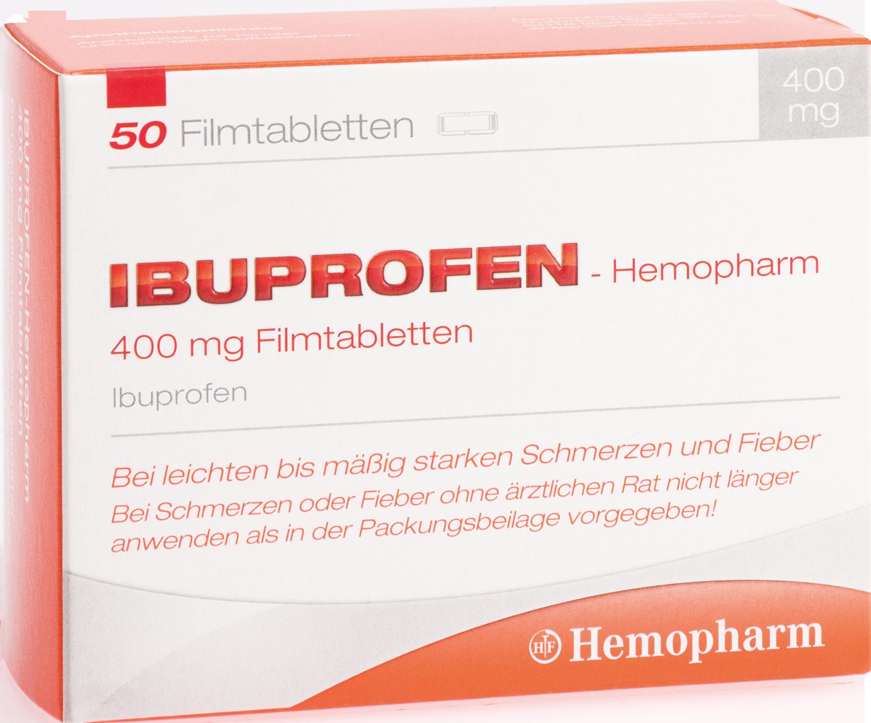 ibuprofen-Hemopharm 400mg Filmtabletten