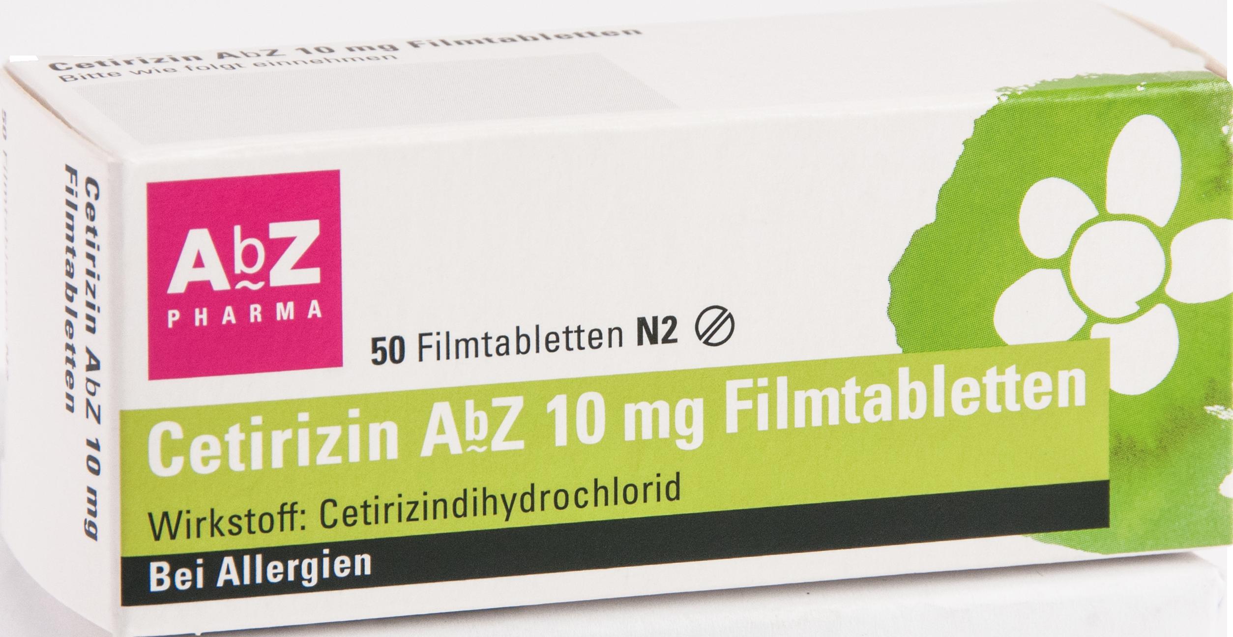 Cetirizin AbZ 10mg Filmtabletten