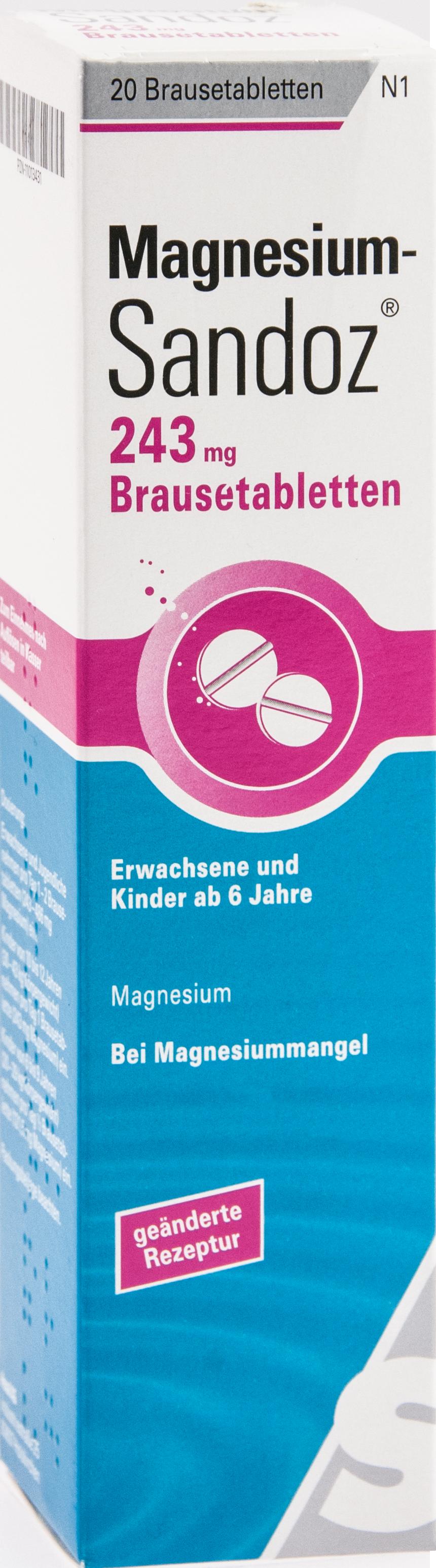 Magnesium-Sandoz 243mg Brausetablette