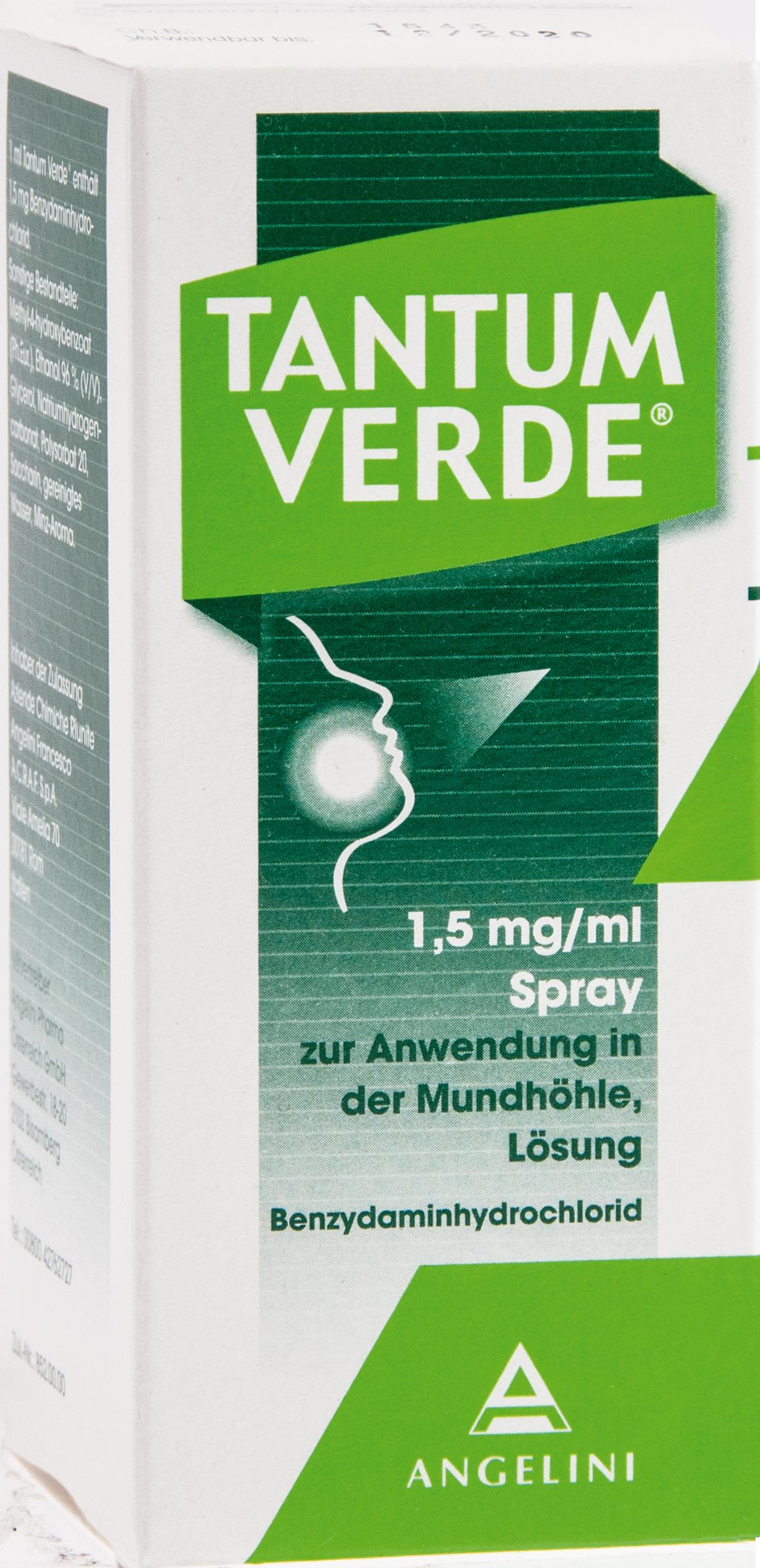 Tantum Verde 1.5mg/ml Spr.z.Anwend. i.d. Mundhöhle