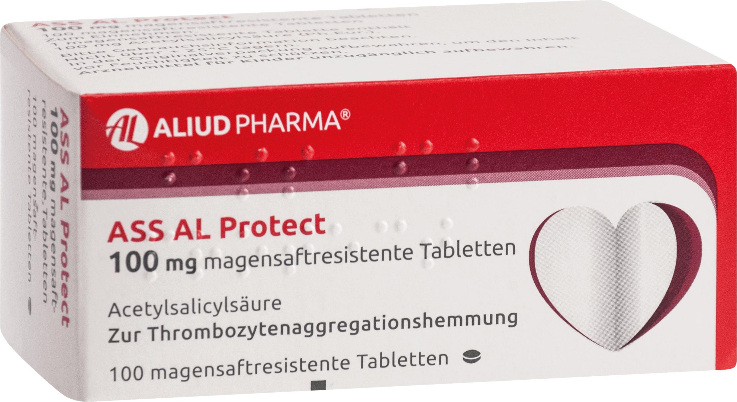 ASS AL Protect 100mg magensaftresistente Tabletten