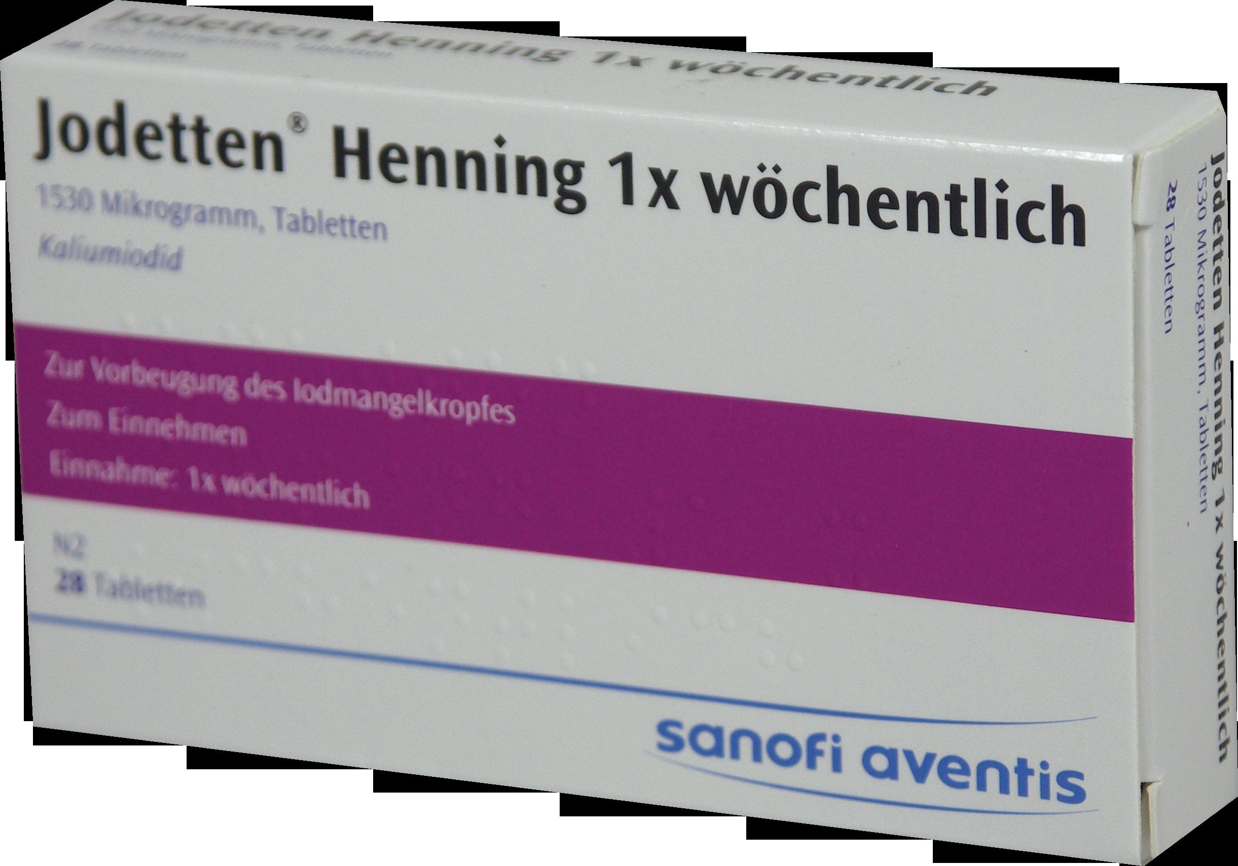 Jodetten Henning 1x wöchentlich