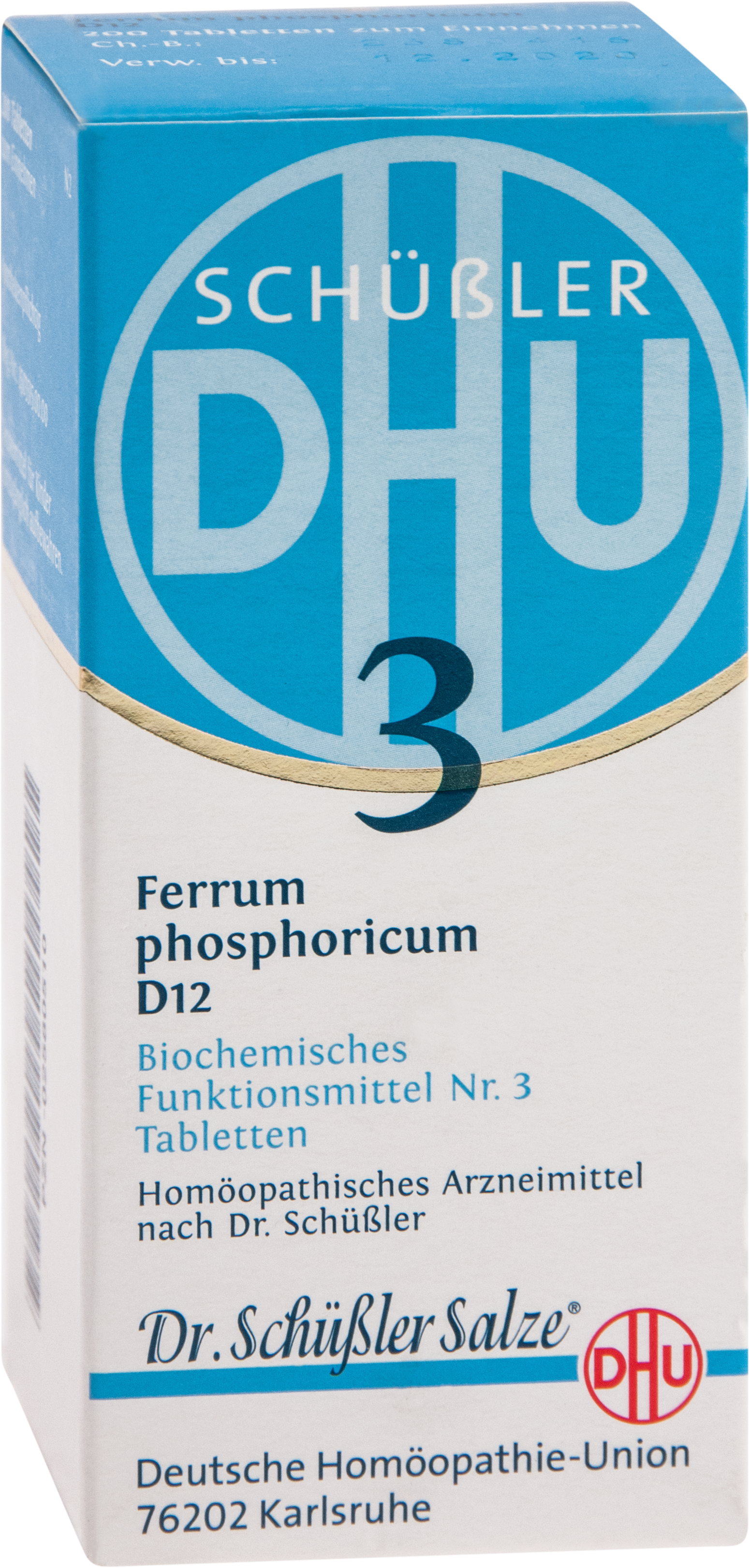 BIOCHEMIE DHU 3 FERRUM PHOSPHORICUM D12