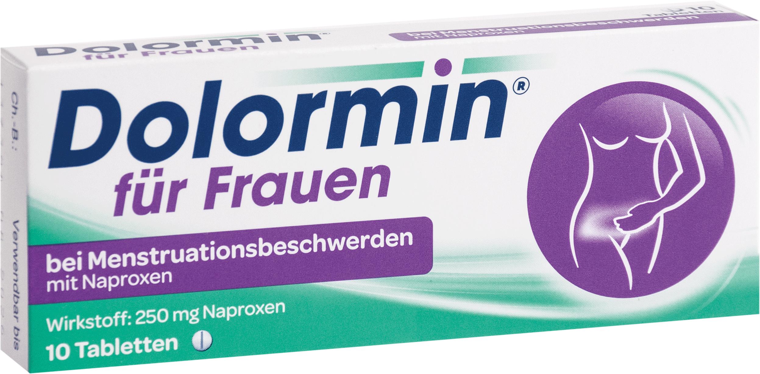 Dolormin f.Frauen bei Menstr.beschw. m. Naproxen
