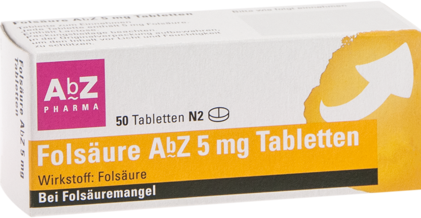 Folsäure AbZ 5mg Tabletten