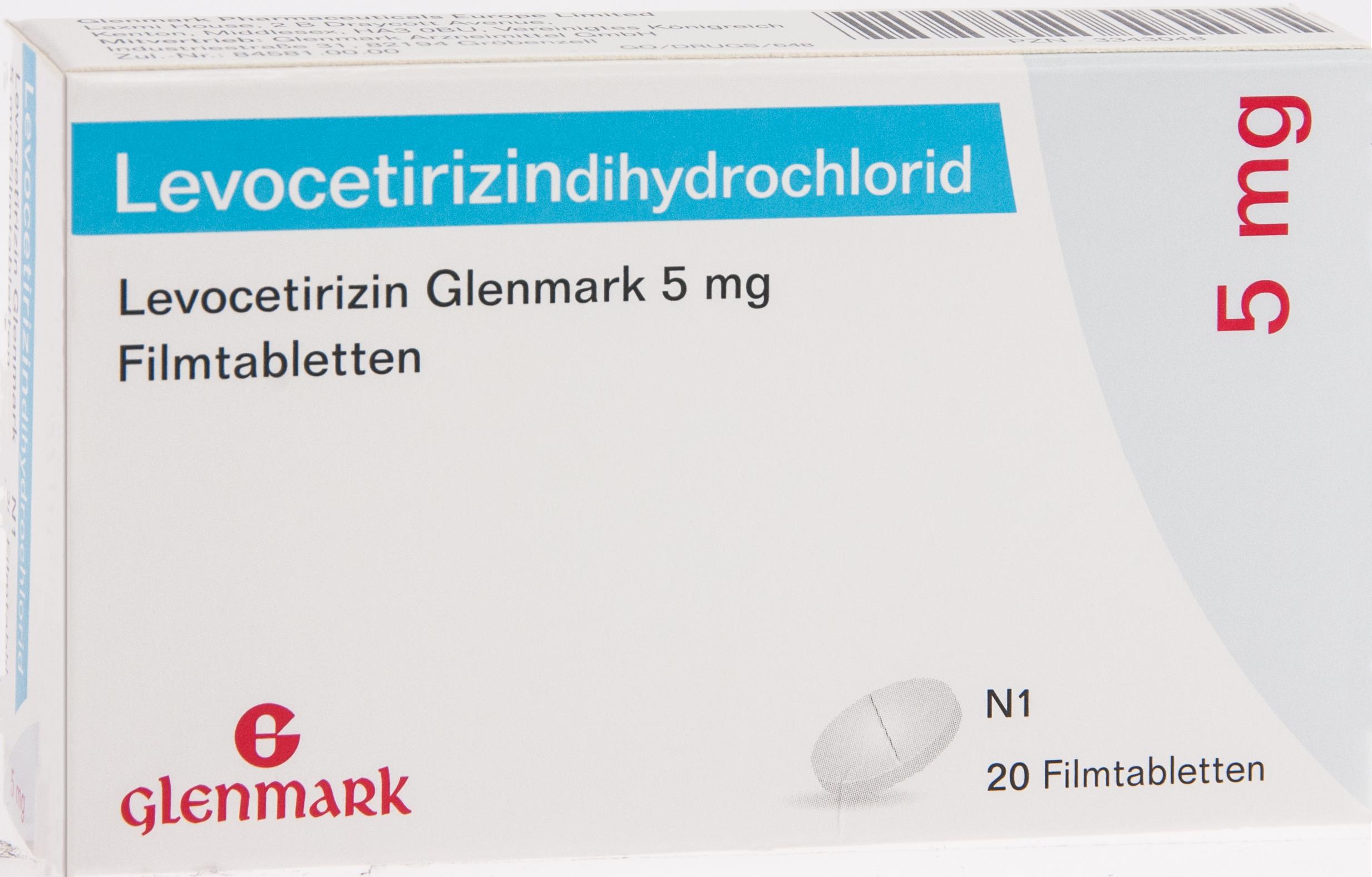 Levocetirizin Glenmark 5mg Filmtabletten