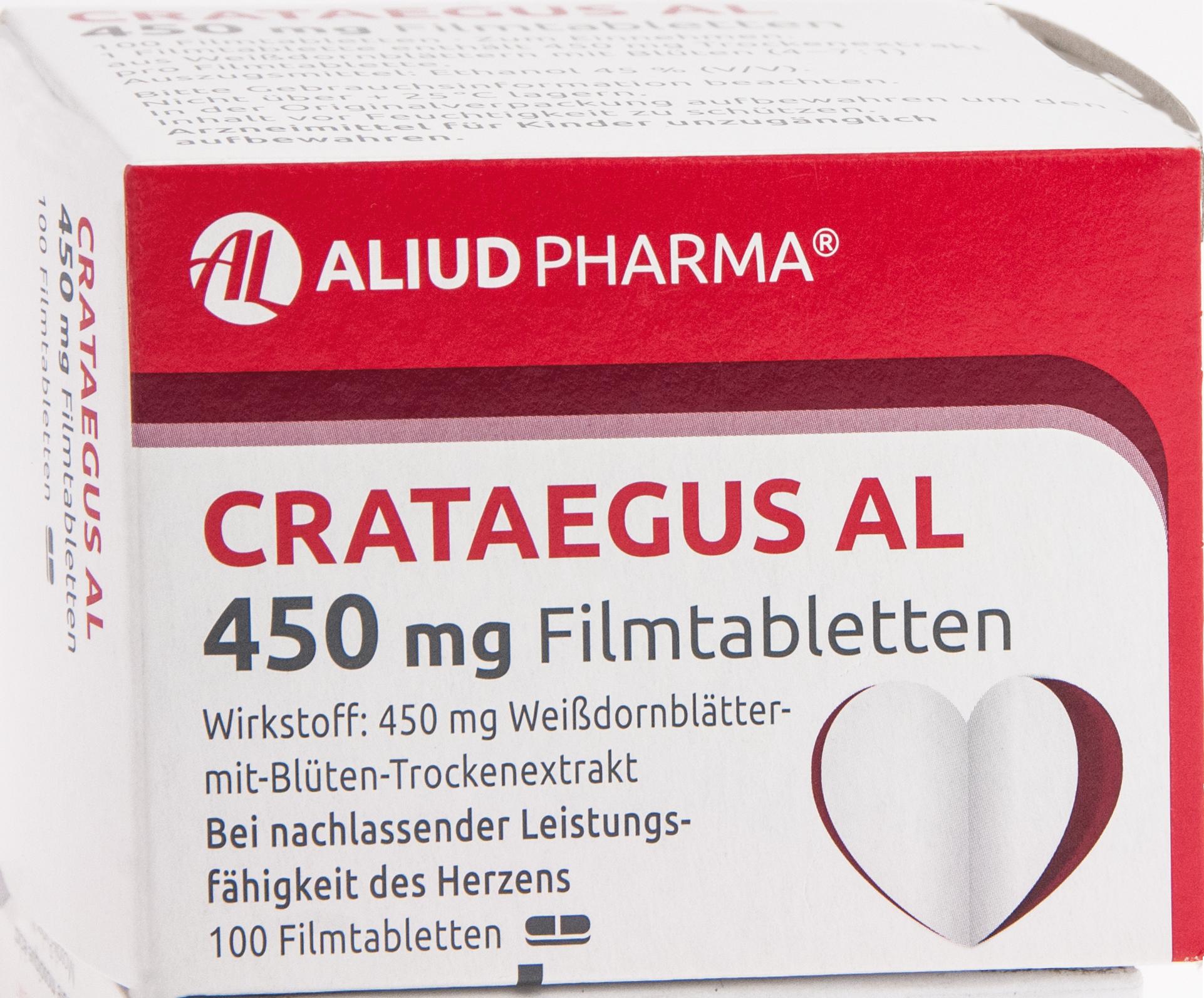 Crataegus AL 450mg Filmtabletten
