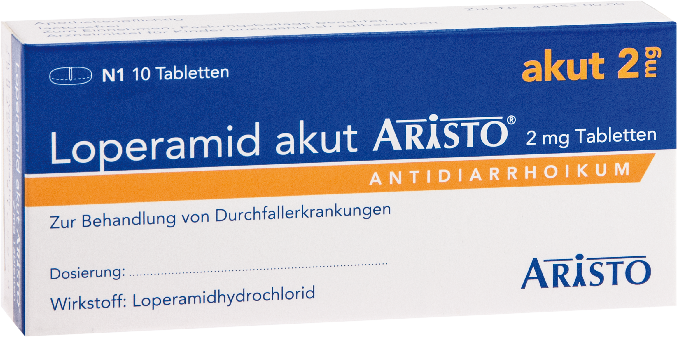 Loperamid akut Aristo 2mg Tabletten