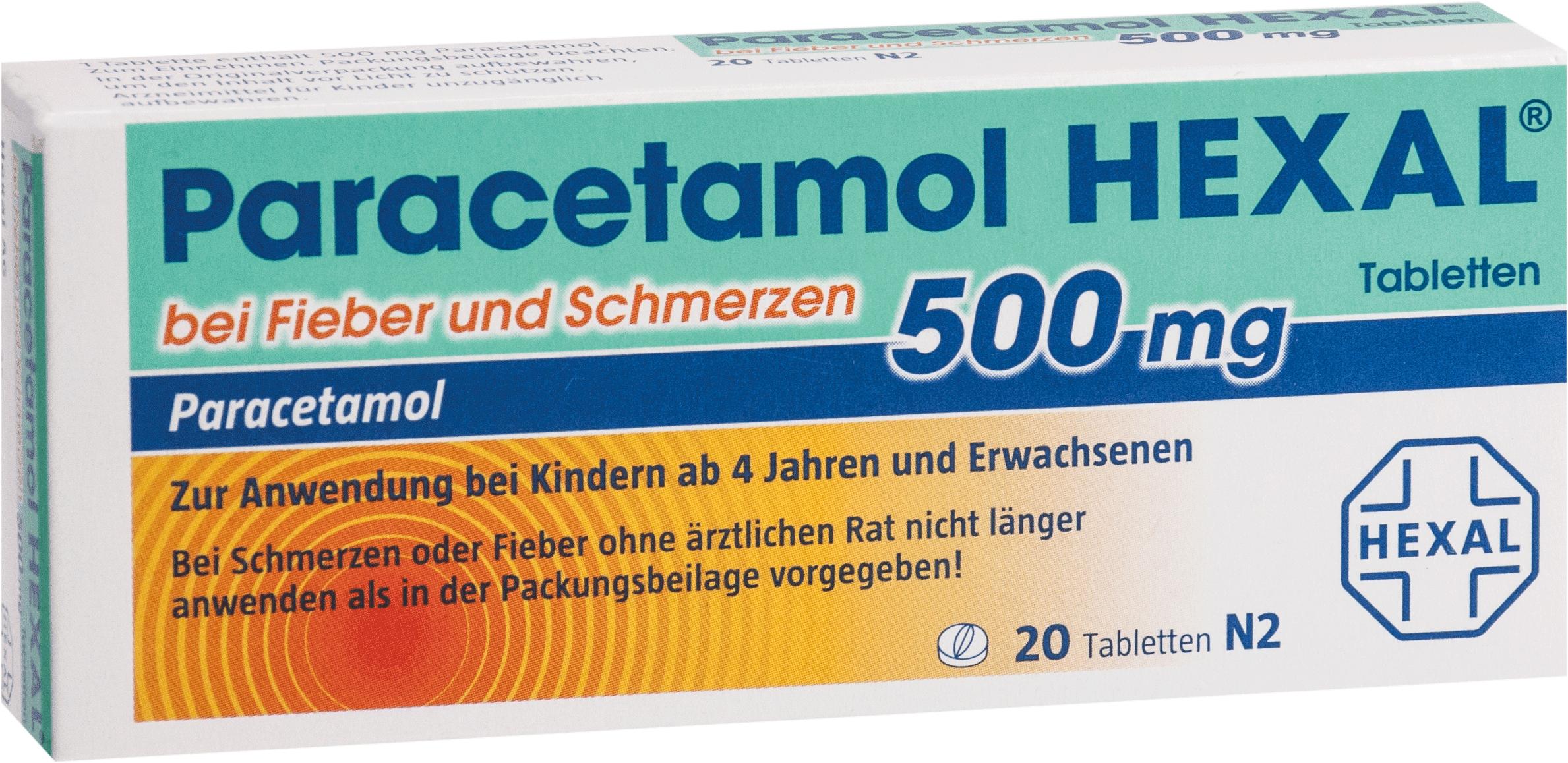 Paracetamol 500mg Hexal bei Fieber und Schmerzen
