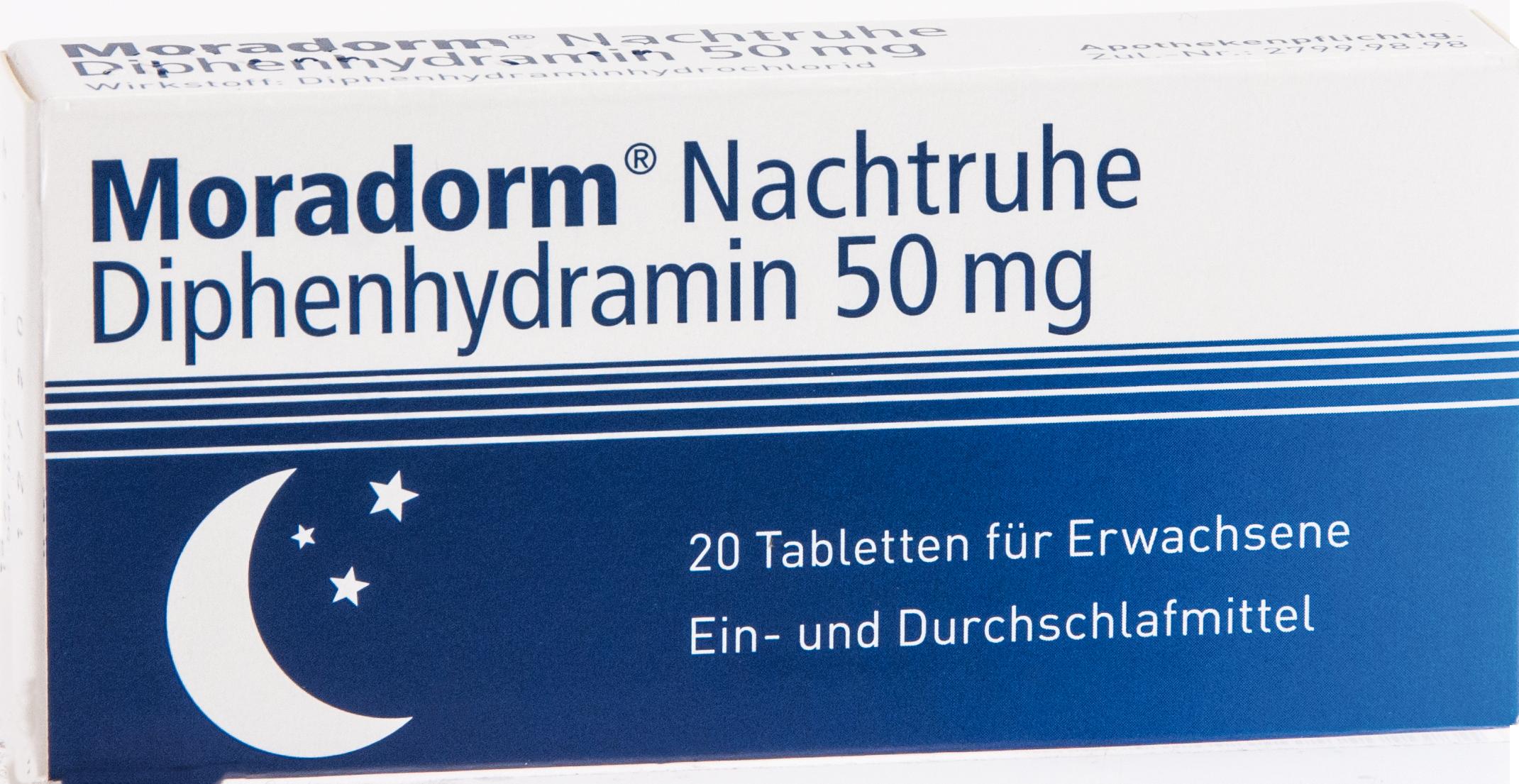 Moradorm Nachtruhe Diphenhydramin 50mg
