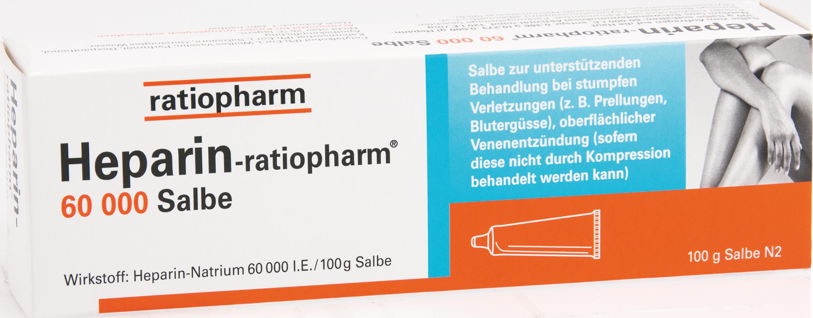 Heparin Ratiopharm 60000 Salbe