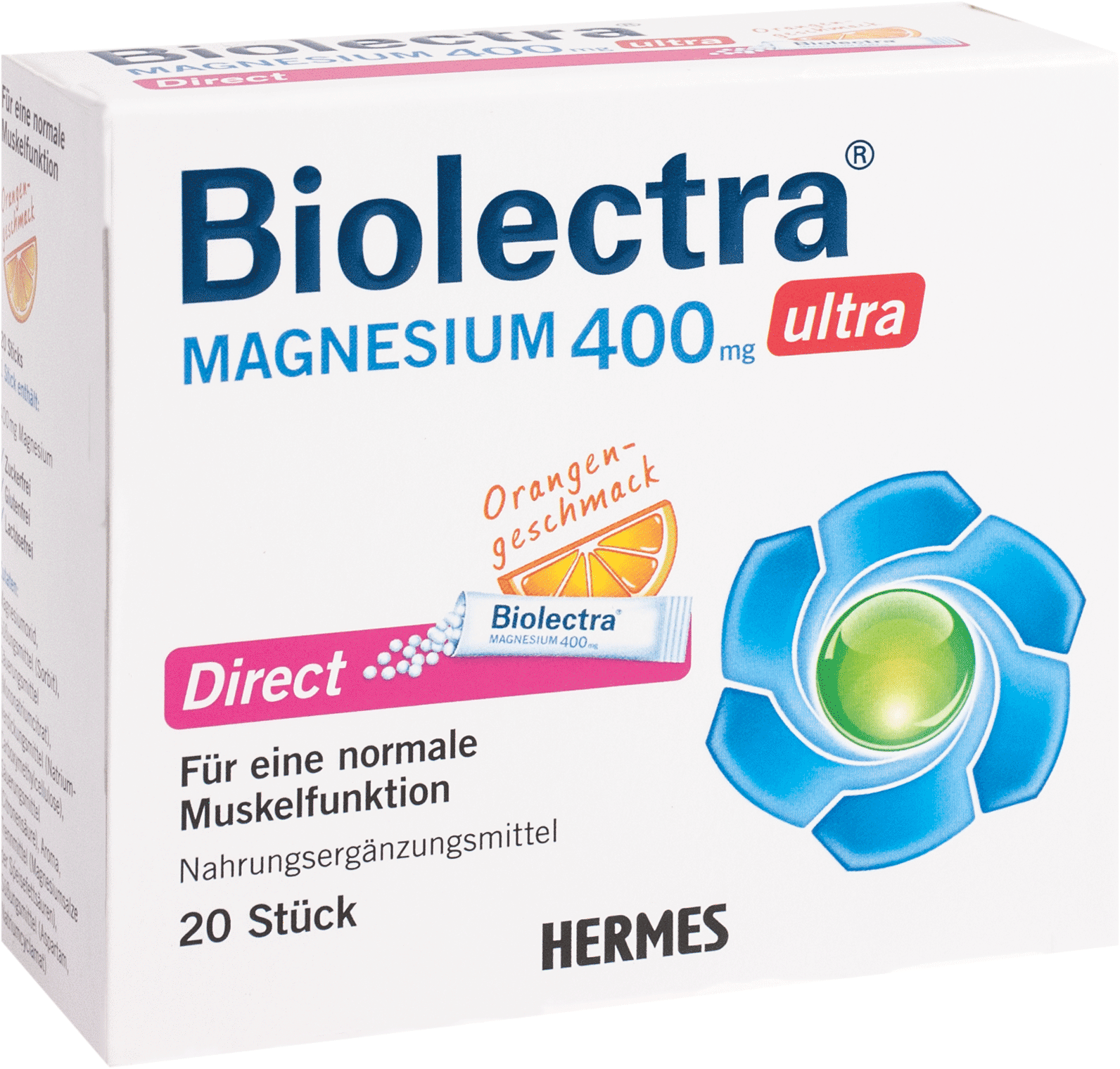 Biolectra Magnesium 400mg Ultra Direct Orange