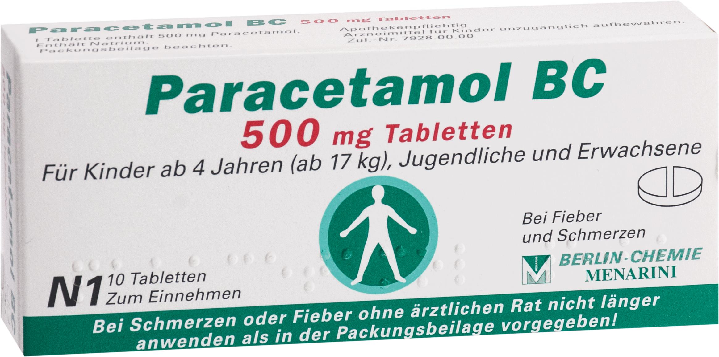 Paracetamol BC 500mg Tabletten