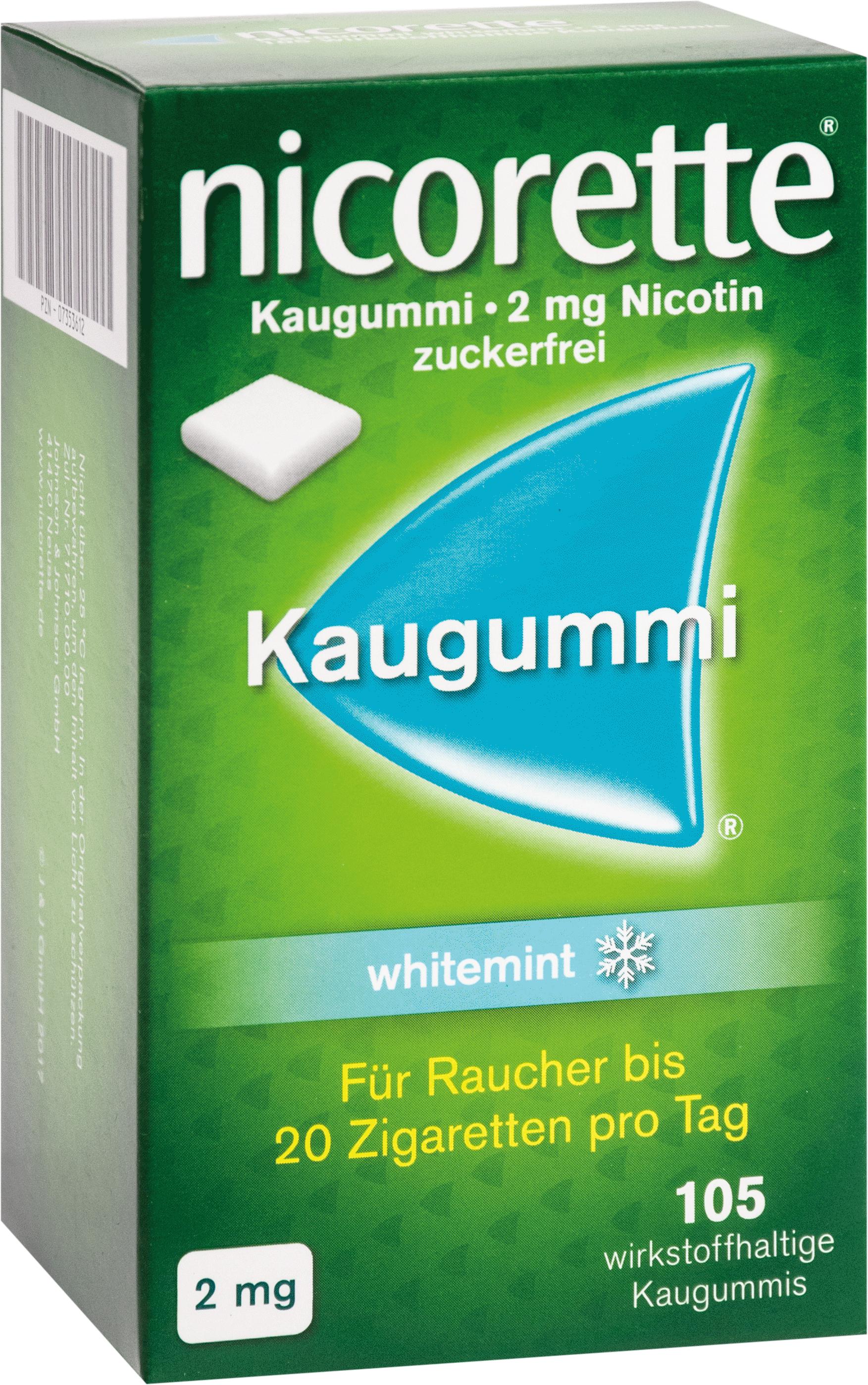 nicorette Kaugummi 2mg whitemint