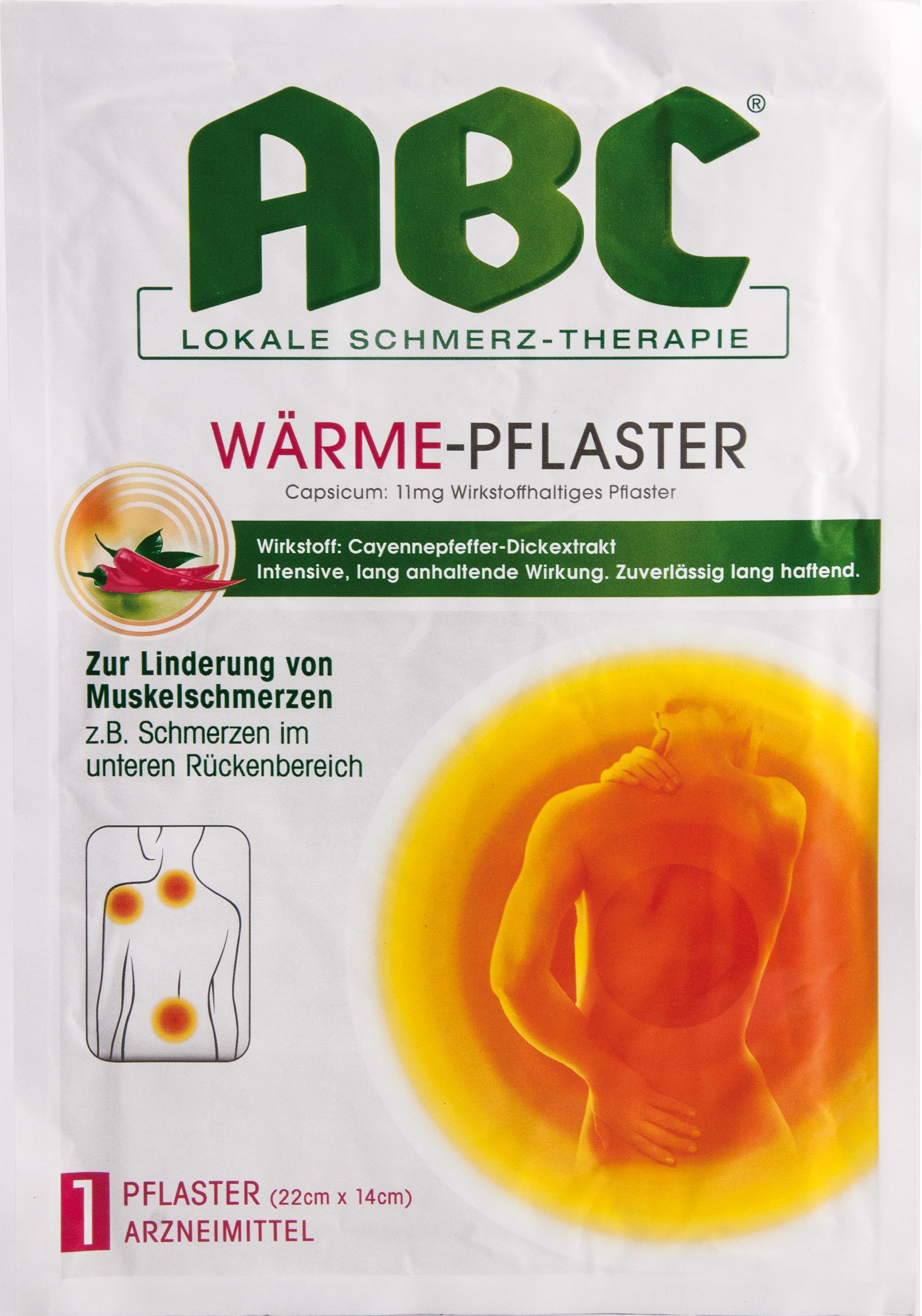 ABC Wärme-Pflaster Capsicum Hansaplast med 22x14