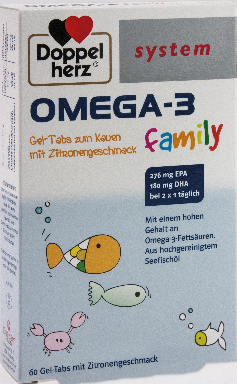 Doppelherz Omega-3 Family Gel-Tabs system