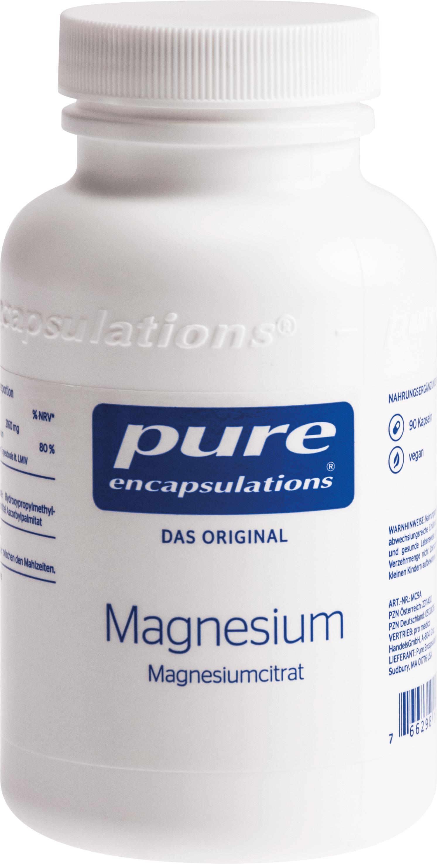 PURE ENCAPSULATIONS MAGNESIUM MAGNESIUMCITRAT