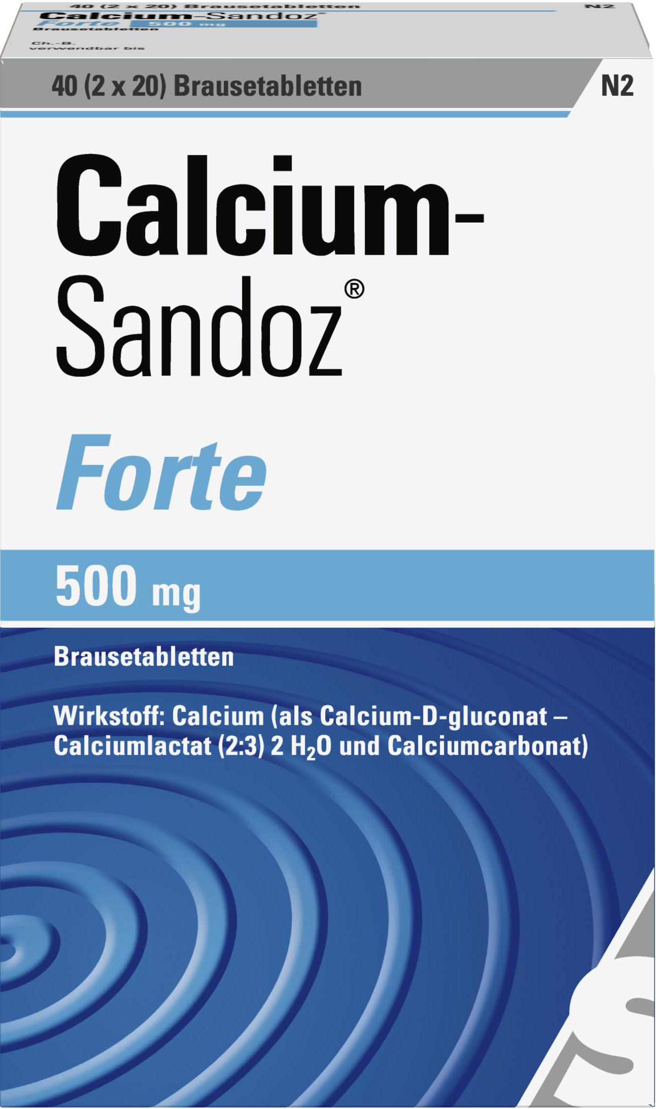 CALCIUM SANDOZ FORTE