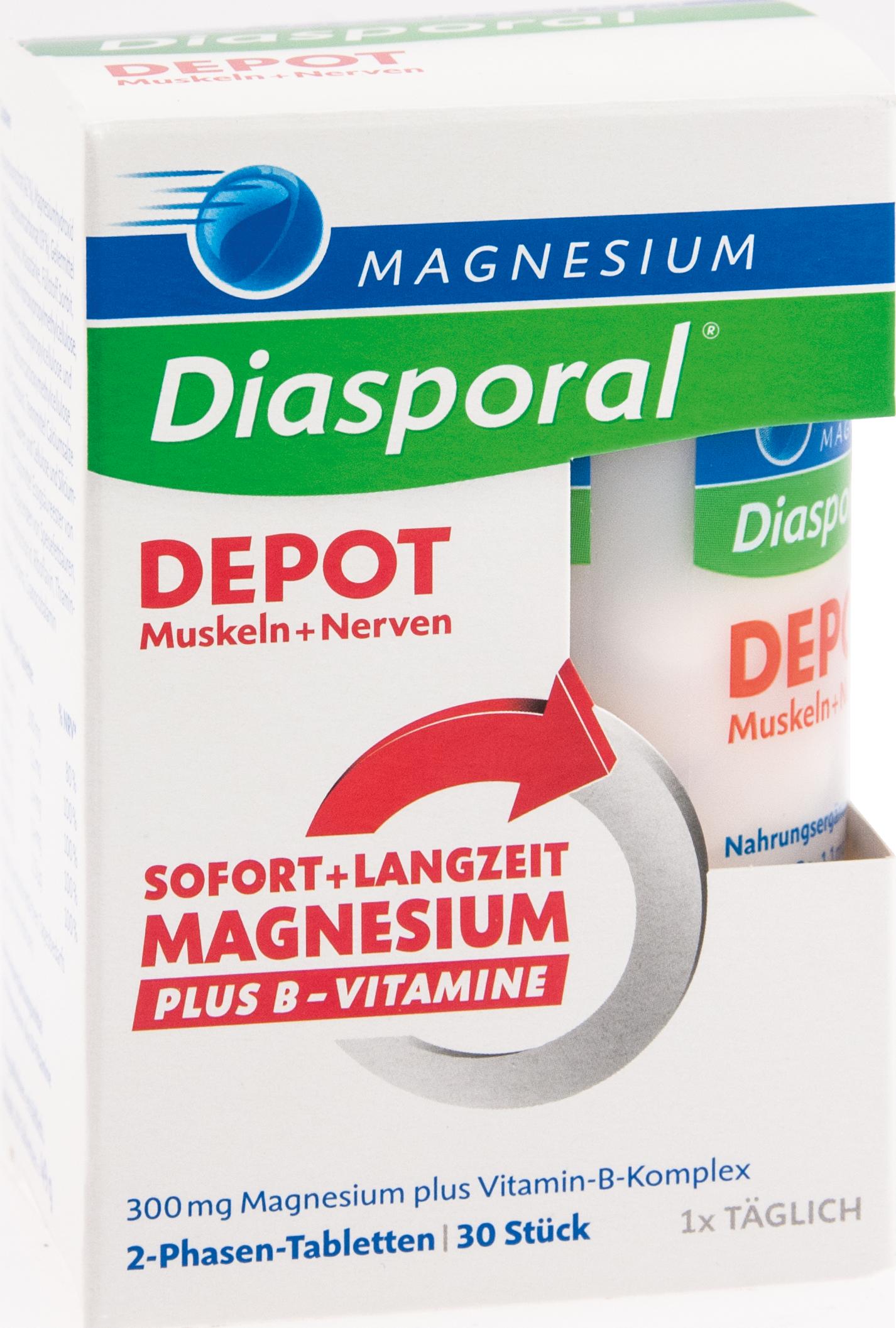 Magnesium-Diasporal DEPOT Muskeln + Nerven