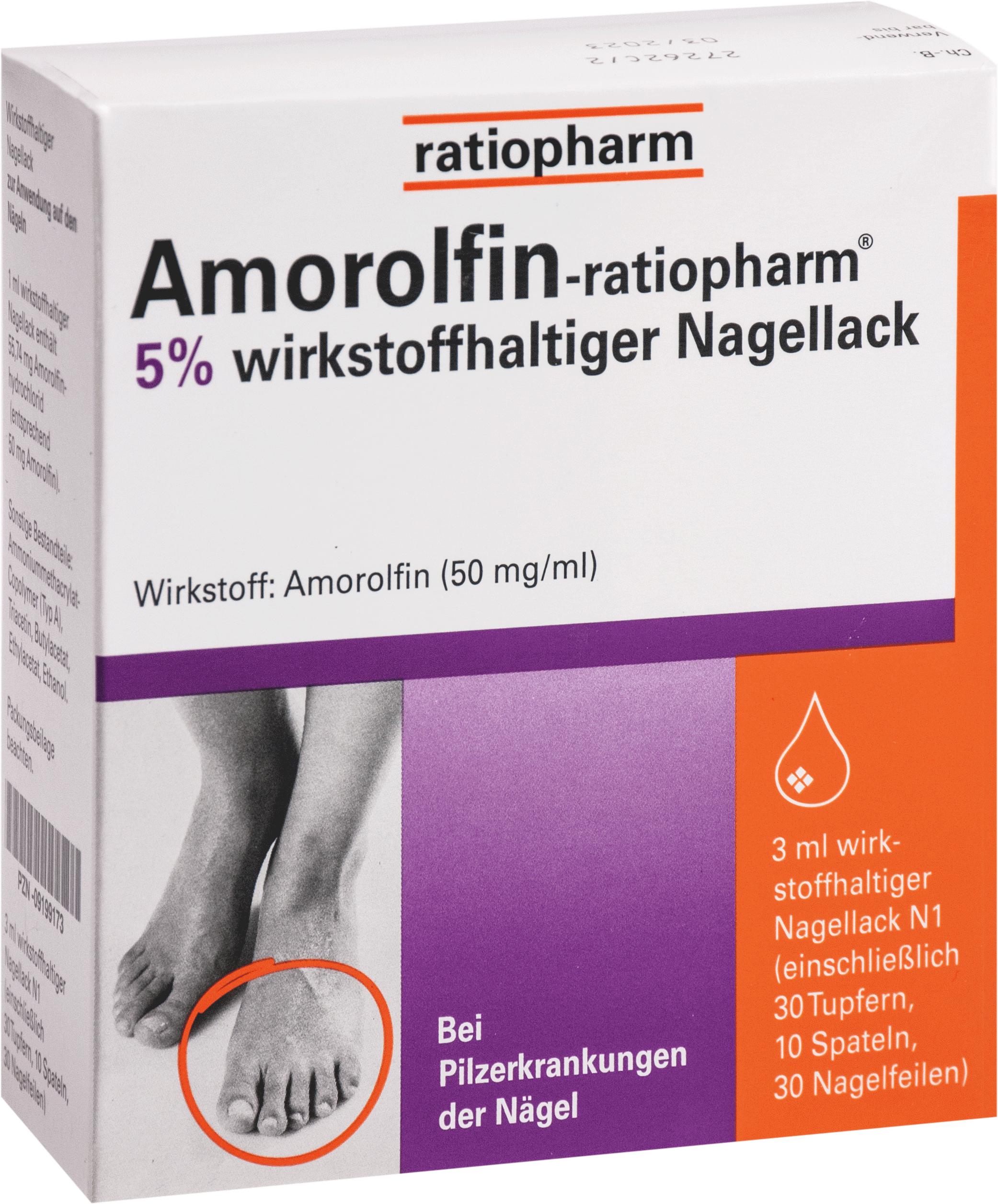 Amorolfin-ratiopharm 5% wirkstoffh. Nagellack