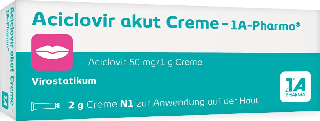 Aciclovir akut Creme - 1A-Pharma