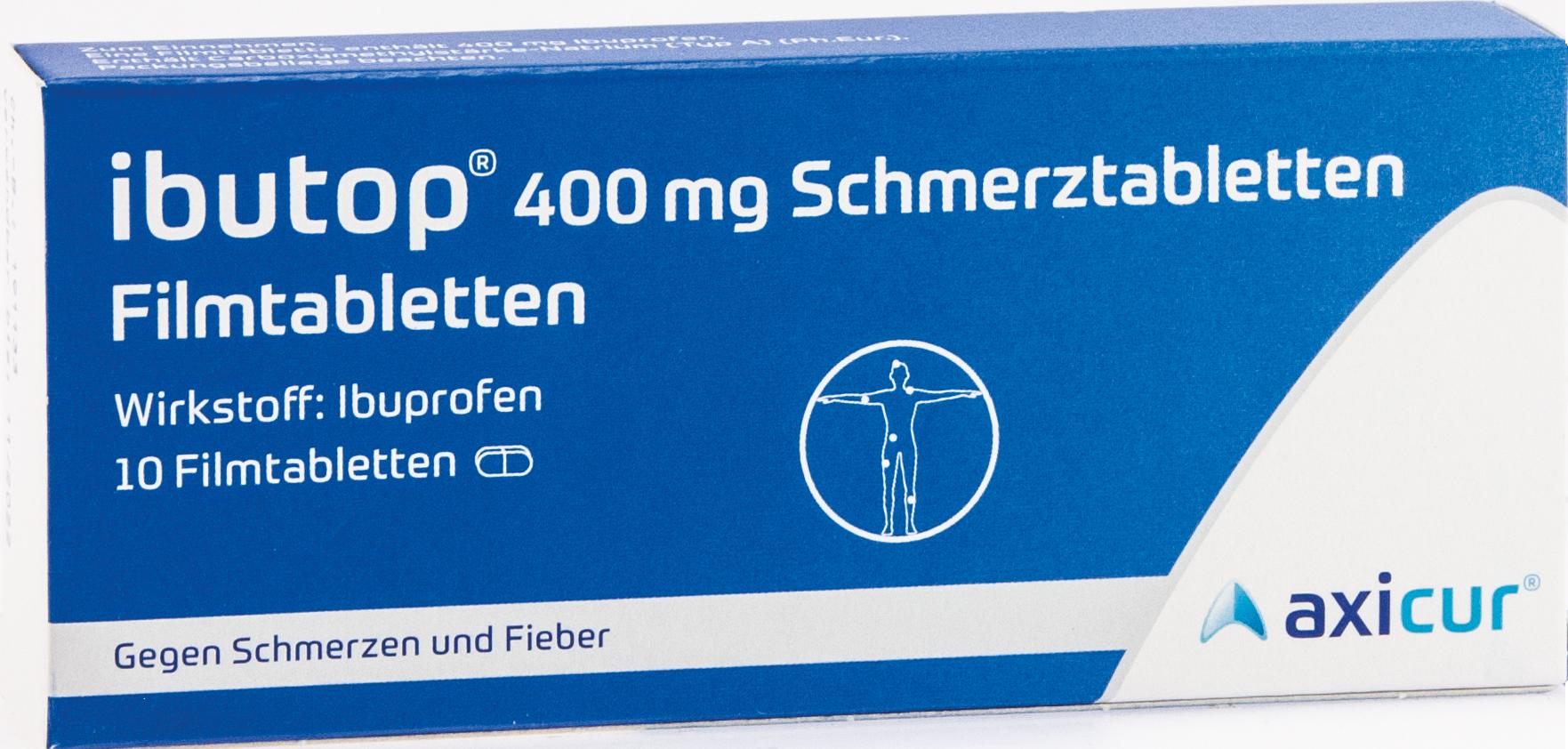 IBUTOP 400mg Schmerztabletten Filmtabletten