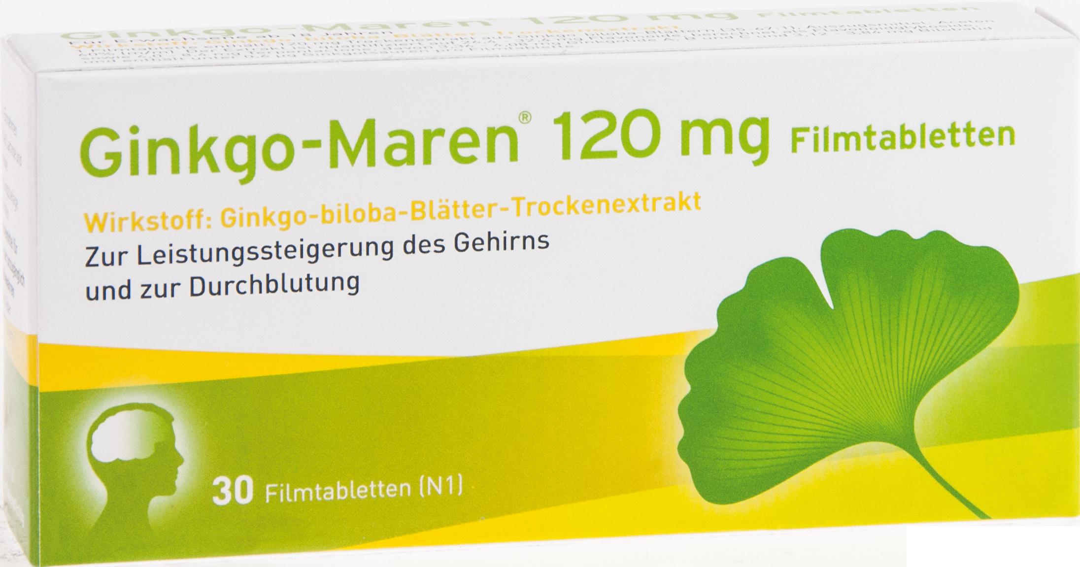 Ginkgo-Maren 120mg Filmtabletten