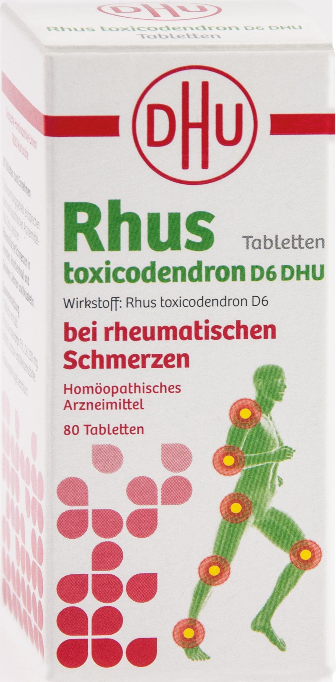 Rhus tox. D6 DHU bei rheumatischen Schmerzen