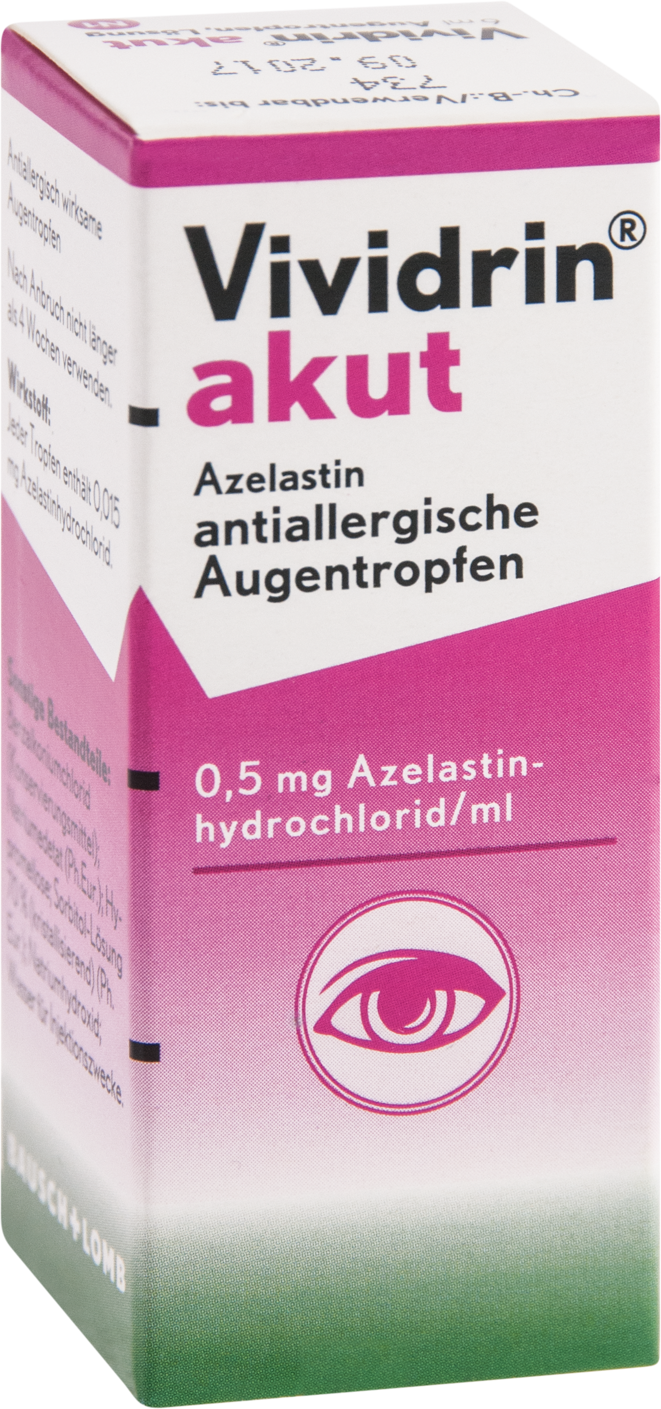 Vividrin akut Azelastin antiallergische Augentropf