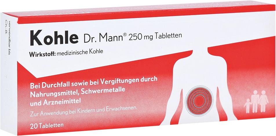 Kohle Dr.Mann 250mg Tablettem