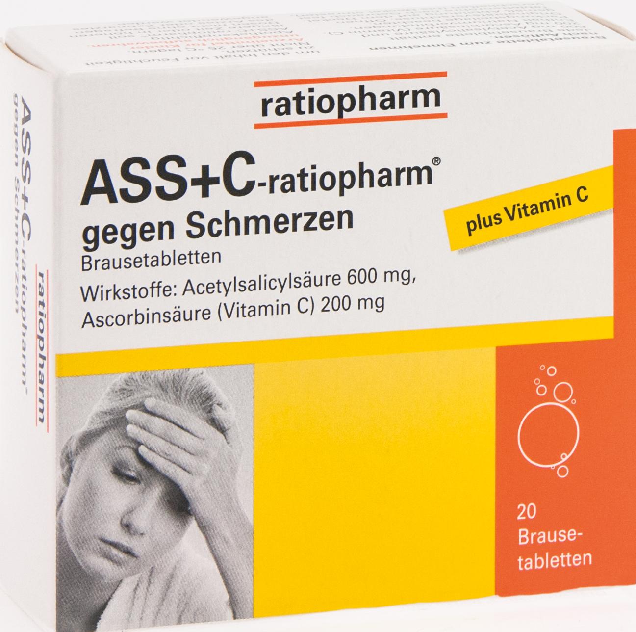 ASS + C-ratiopharm gegen Schmerzen