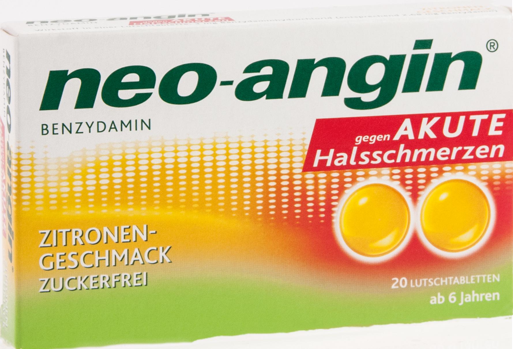 neo-angin Benzydamin akute Halsschmerz Zitrone